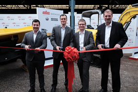 From left to right- Marc Von Grabowski, Albrecht Hohenadl, Karl Tilkorn and Klaus Schilling officially launched the partnership between MHE-Demag and Wacker Neuson